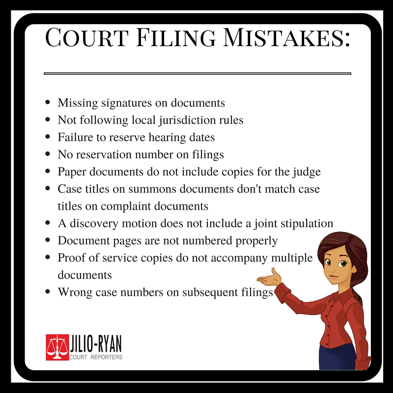 Common California Court Filing Mistakes