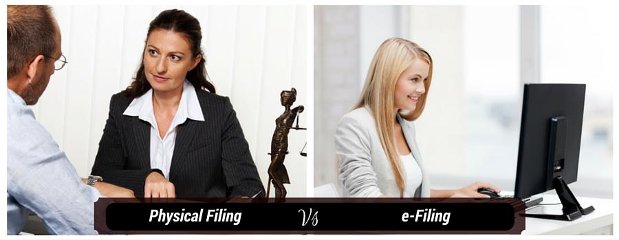 Physical Filing vs e-Filing