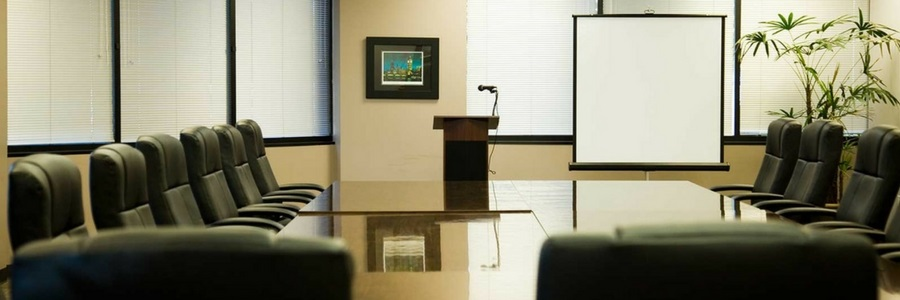 Conference room for deposition